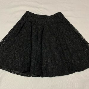 H&M Black Lace lined skirt
